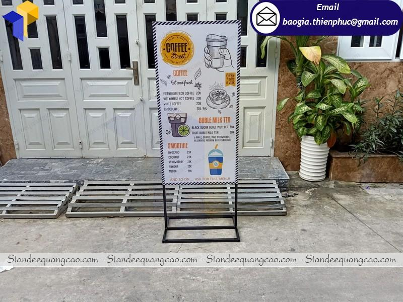 In poster standee 2 mặt cafe chân sắt tại hcm