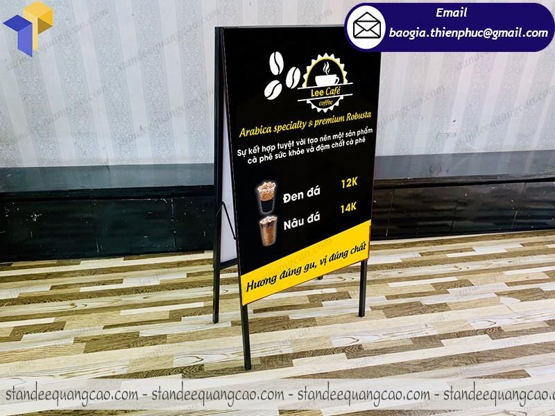 Designs standee chữ a sản phẩm quảng cáo  ở hcm