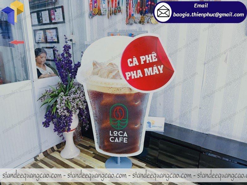 mẫu standee mô hình ly cafe đẹp