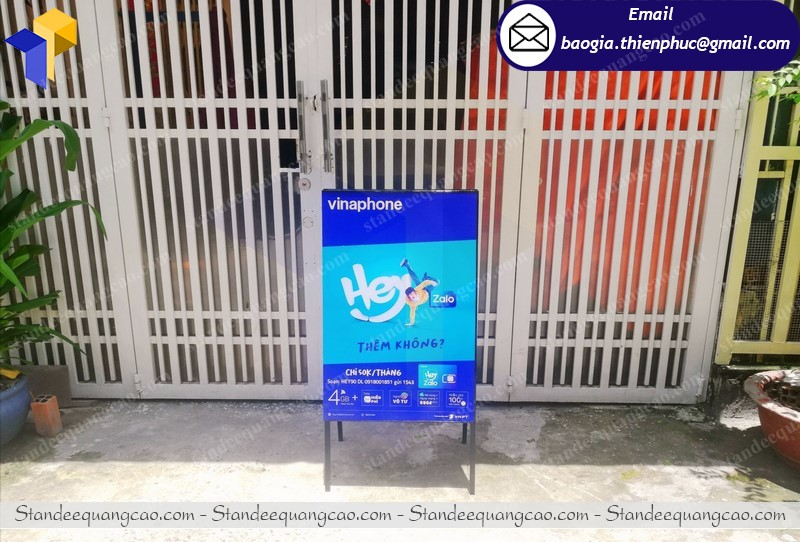 Khung standee 2 mặt tphcm