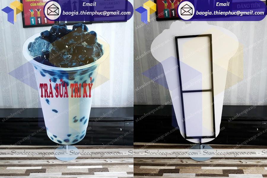 standee hình ly trà sữa
