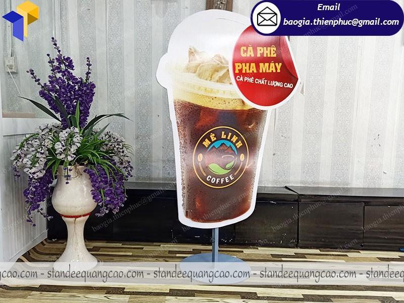 standee mô hình ly cafe