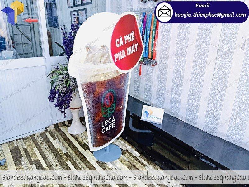cung cấp standee mô hình ly cafe